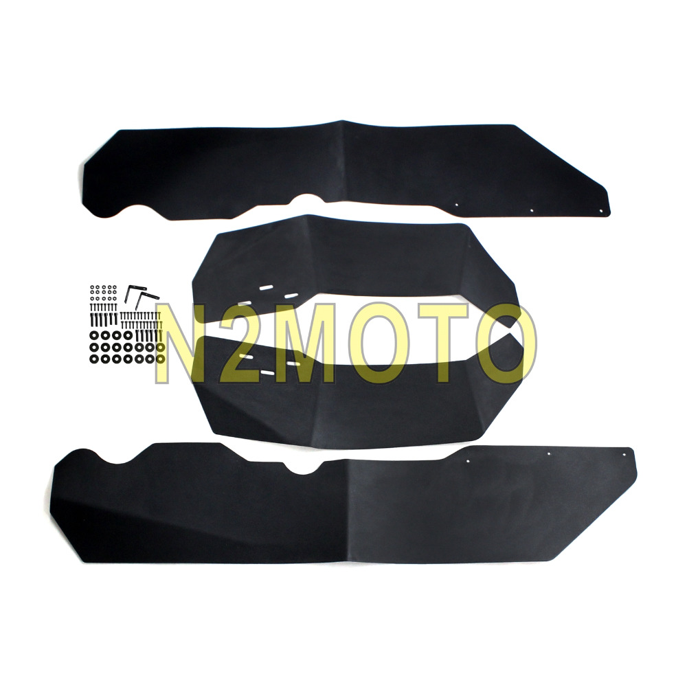 Black Fender Flare Mud Flaps Extension for Polaris RZR XP 1000 RZR 4 XP 100 2014