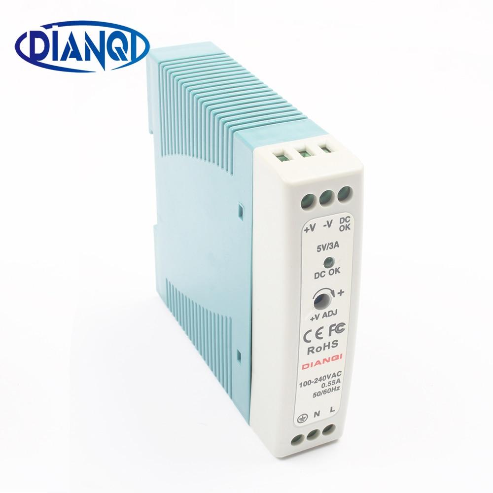 MDR-20 12 V 5 V 15 V 24 V 36 V 48 V 20 W alimentation Sur Rail Din fournir ac-dc pilote AC/DC tension LED bande 110 V 220 V d'alimentation de laboratoire fournir