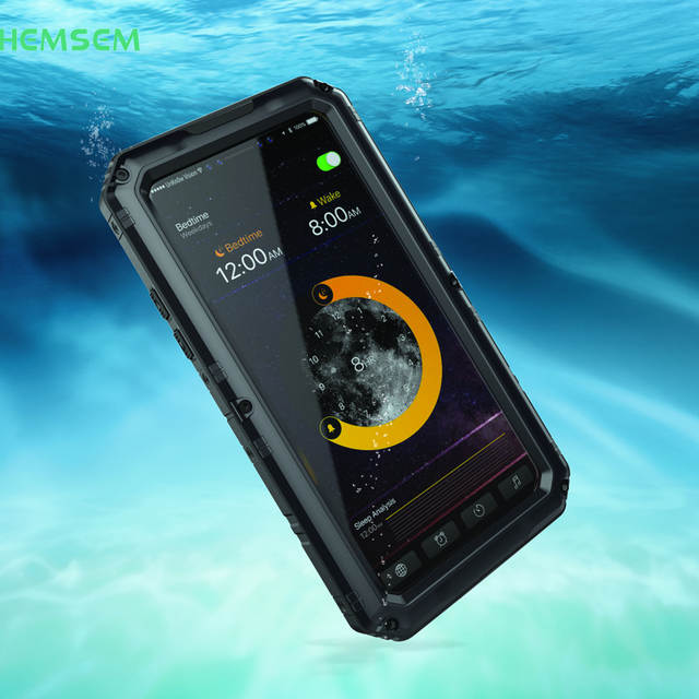 pretty nice 7a796 32168 US $22.69  For iPhone8 for iPhone 8 plus cases iP68 armor aluminum metal  shockproof waterproof covers housing water/dirt/sand//rain 4 proof-in  Fitted ...