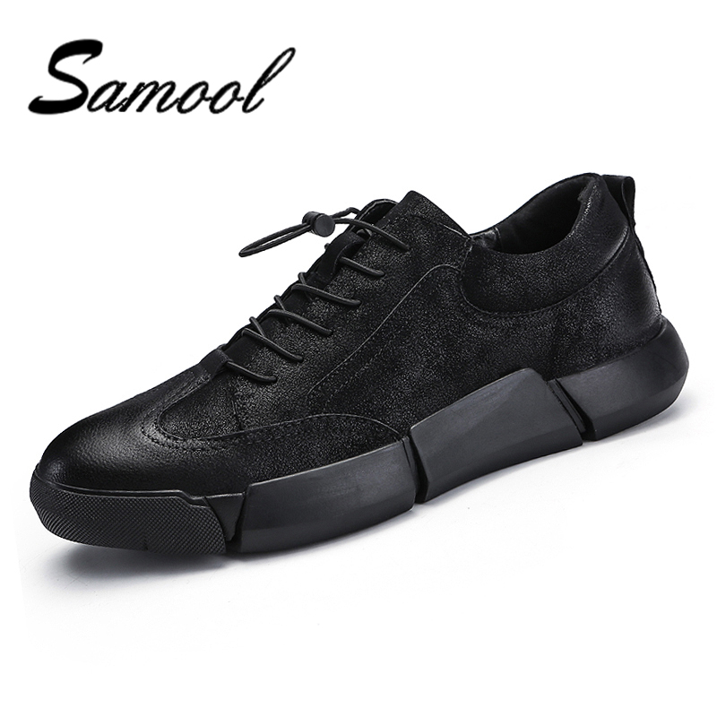 Men's Spring Casual Fashion Men Suede Leather Driving Shoes Thick Bottom Handmade Sewing Design Men Elastic band Footwear QX5 concise men s casual shoes with colour block and elastic design