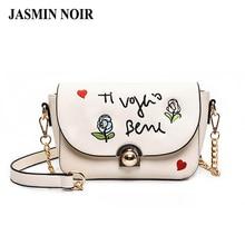 Бренд дизайнер женщины сумка женские кожаные цветочные crossbody сумка 2017 новая мода вышитые розы дамы сумка
