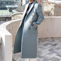 European winter 2016 new women's casual fashion color slim long coat   v282
