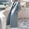 European winter 2017 new women's casual fashion color slim long coat   v282