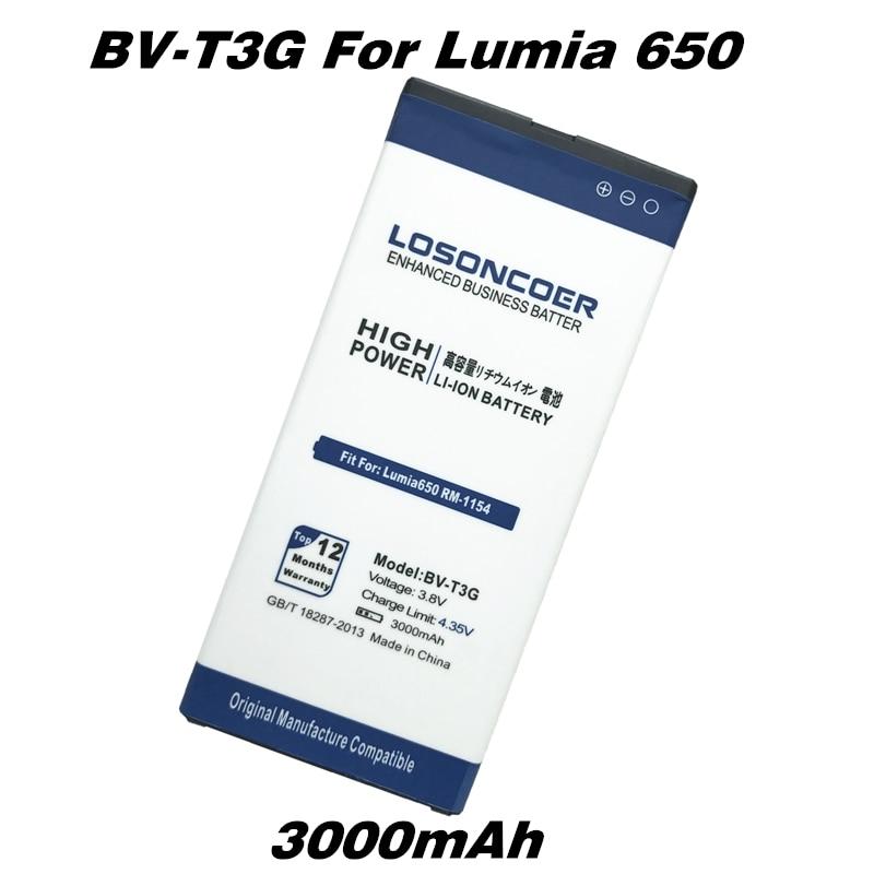 imágenes para LOSONCOER BV-T3G Reemplazo del Li-ion Para Nokia lumia 650 RM-1154 Microsoft + Código de Seguimiento