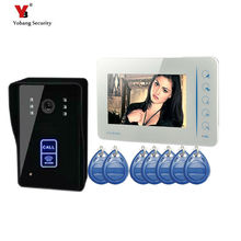 Yobang Security freeship Video Intercom Monitor RFID Card Reader 7″ Doorbell Phone Home Security Color Wired for House Apartment