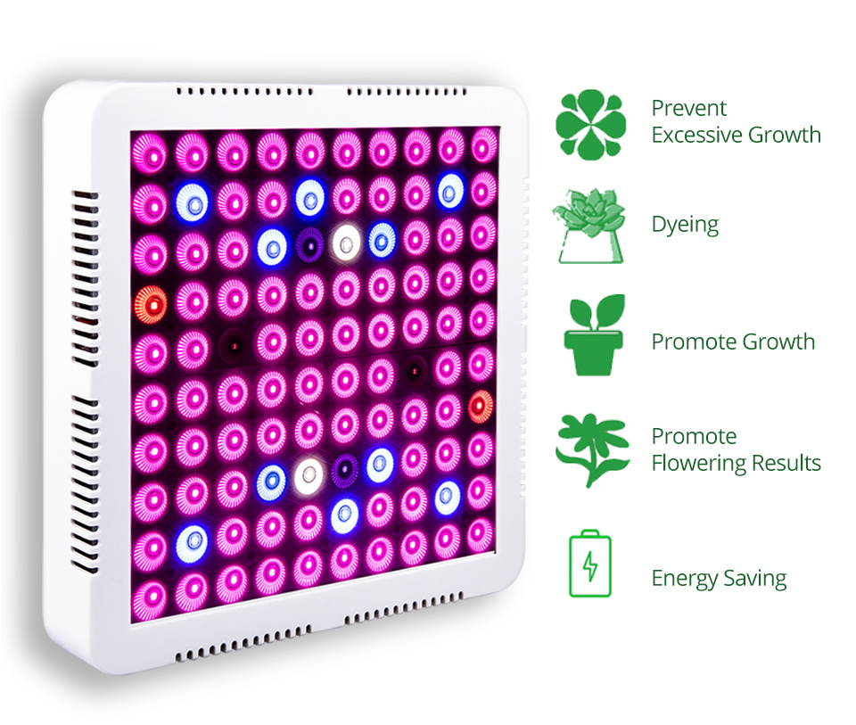 300W Full Spectrum LED Plant Grow Light Lamp For Plant Indoor Nursery Flower Fruit Veg Hydroponics System Grow Tent Fitolampy (1)