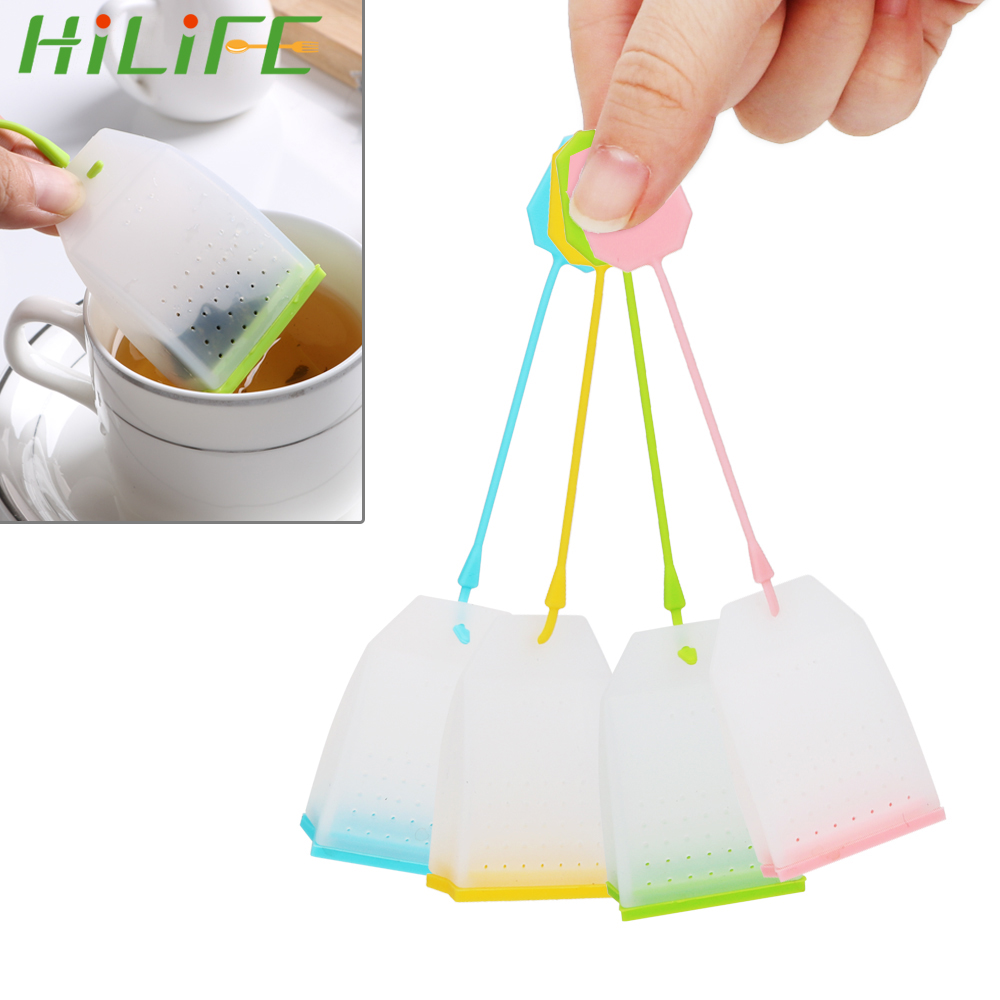 HILIFE Tea Infuser High Temperature Resistance Random Color Tea Strainers  Food-grade Silicone Tea Bag Herbal Tea Infusers