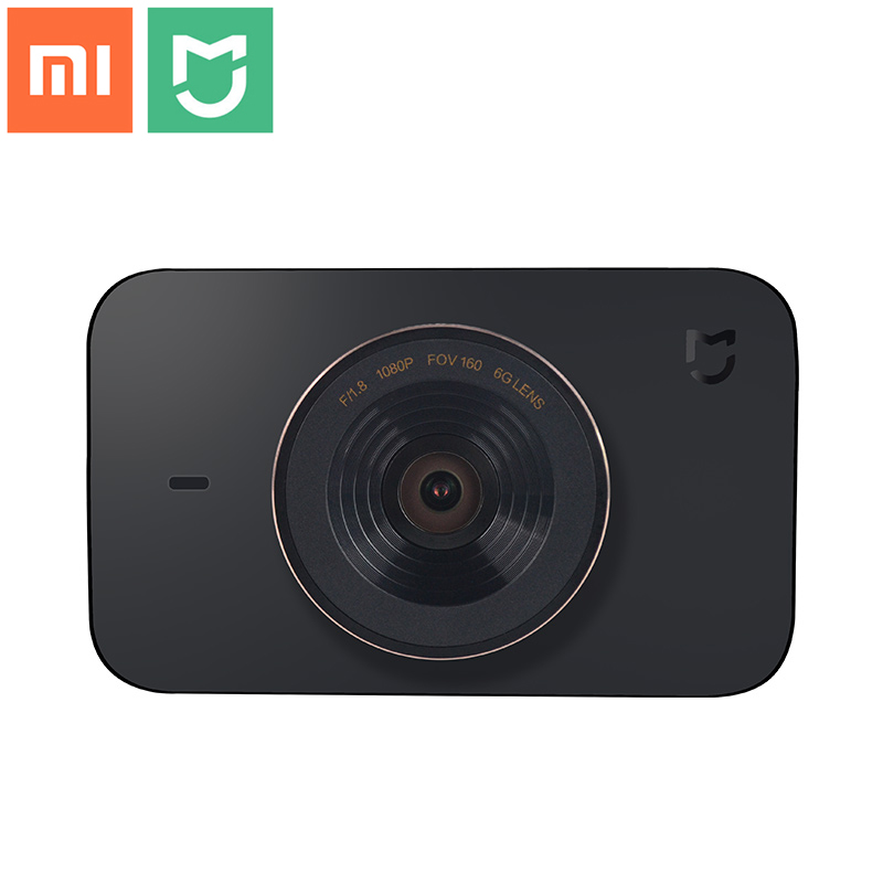 Original Xiaomi Mijia Smart WiFi Car Camcorder DVR Recorder F1.8 1080P 160 Degree Wide Angle 3 inch HD Screen Dash Camera dual lens car rearview mirror dvr video recorder camcorder night vision 4 3 inch allwinner a10 2x140 degree wide angle