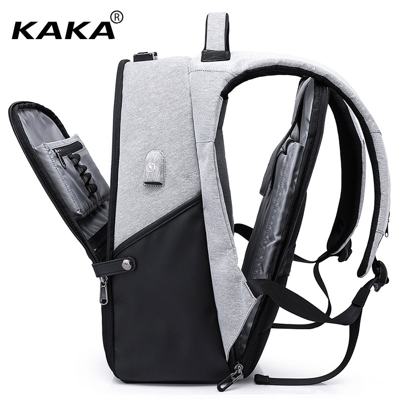 "Kaka Brand Design Anti-thefy Design Men Backpacks Waterproof Women 15.6"" Laptop Backpack Bags Travel Luggage Fashion Bags Big"