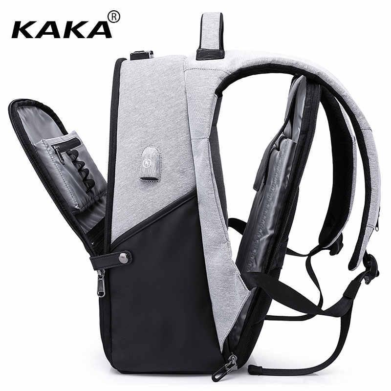 """KAKA фирменный дизайн анти-теффи дизайн мужские рюкзаки водонепроницаемые женские 15,6 """"рюкзак для ноутбука сумки для путешествий багаж модные сумки большие"""