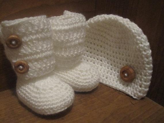 baby bootie és kalap - Bébi ruházat - Fénykép 1