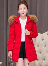 Parka женщин зима Корейской Тонкий Середине долго срок Большой шерсти воротник хлопка ватник Плюс размер женщин зимняя куртка 3xl 4xl 5xl 6x