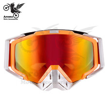 orange Multicolor len motorcycle goggles motorbike Anti UV ski Goggles Windproof skiing parts prevent UV moto
