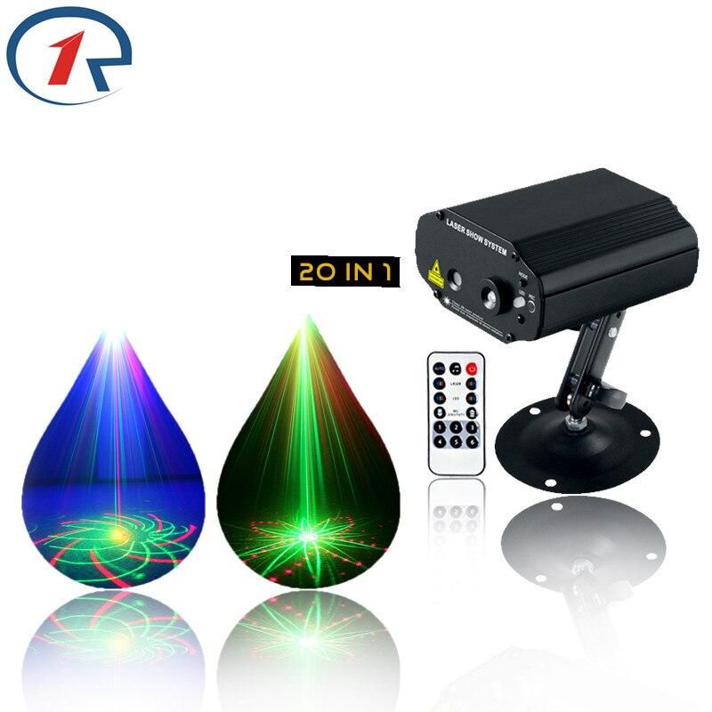 ZjRight IR Remote Laser Stage Light 20 Patterns Laser projection Red Green Blue disco light Xmas bar ktv dj holiday fairy lights цена