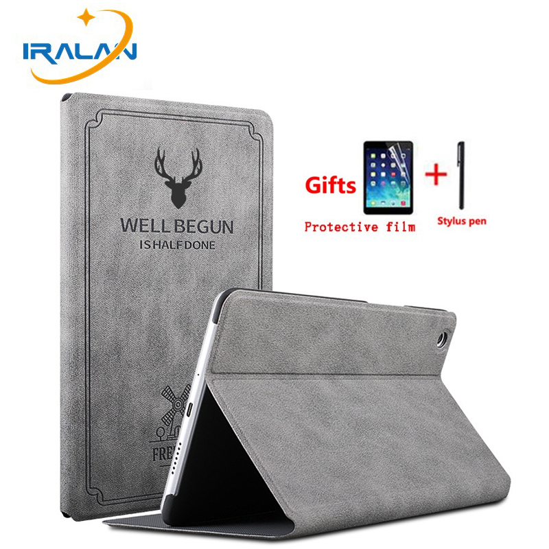 Retro Leather Smart Case For Huawei MediaPad M5 10.8 CMR-AL09 CMR-W09/ 10 Pro CMR-W19 Auto Wake Sleep Stand Flip Cover film+pen(China)