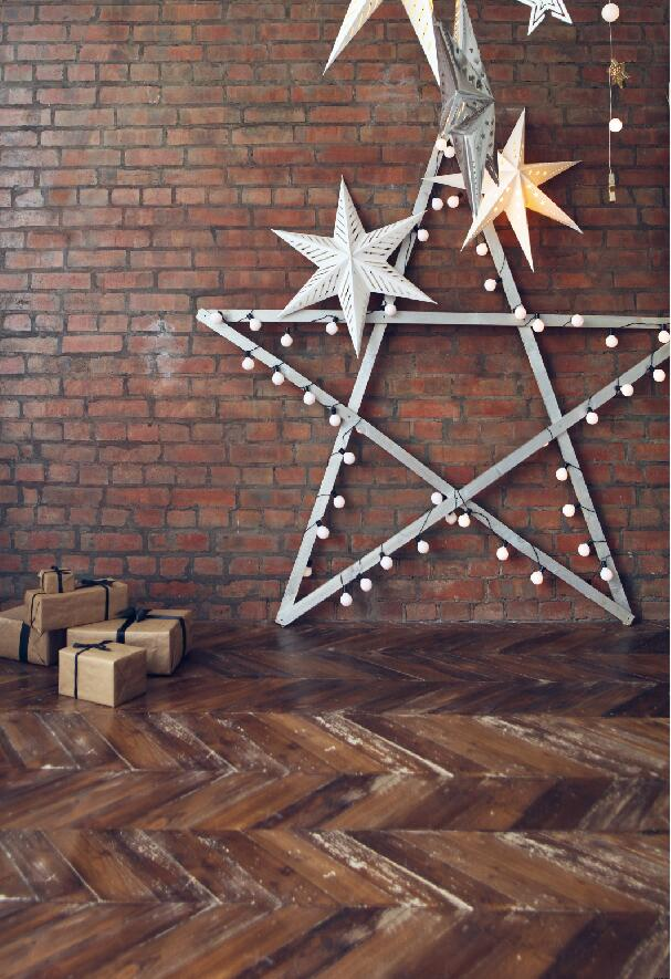 Bricks And Christmas Decoration Photography Backdrop Photo Studio Background Backdrop Stage Backdrop D 9666