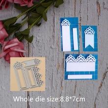 Decorationt Bookmark lace Metal steel frames Cutting Dies DIY Scrap booking Photo Album Embossing paper Cards8.8*7cm