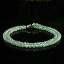 Genuine A goods Yu Yixuan jewelry ice oil green emerald beads necklace jade light oil jade beads necklace