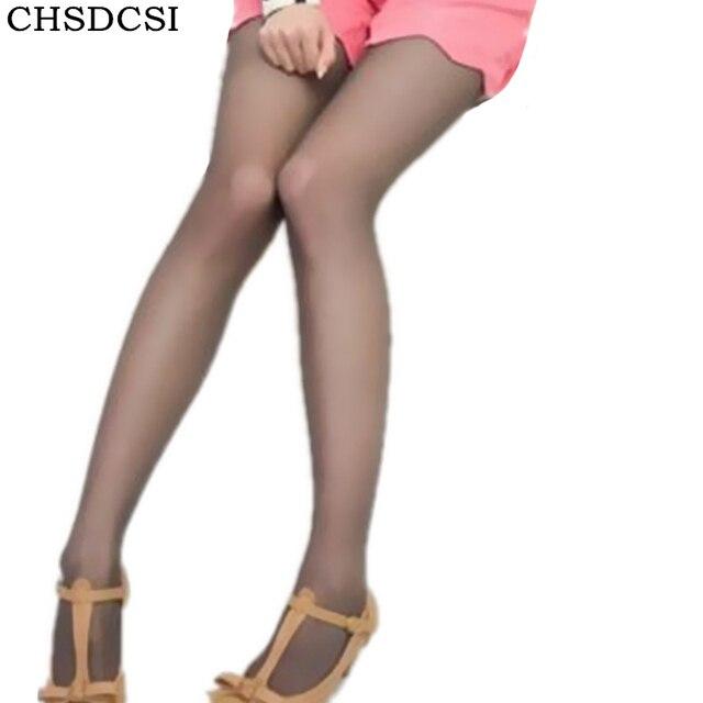 477f1b2a0ff470 CHSDCSI superelastyczne magiczne rajstopy jedwabne pończochy Skinny nogi  Collant Sexy rajstopy zapobiec hak jedwabne Medias kobiety