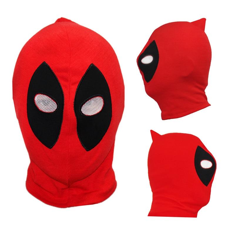 30pcs/lot New PU Deadpool Masks Superhero Balaclava Halloween Cosplay Costume X-men Hats Headgear Arrow Party Full Face Mask