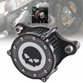 Preto CNC Cleaner & Kits de Sistema de Filtro de Entrada de Ar Crânio Se Encaixa Para 2004-2015 Harley Sportster Novo