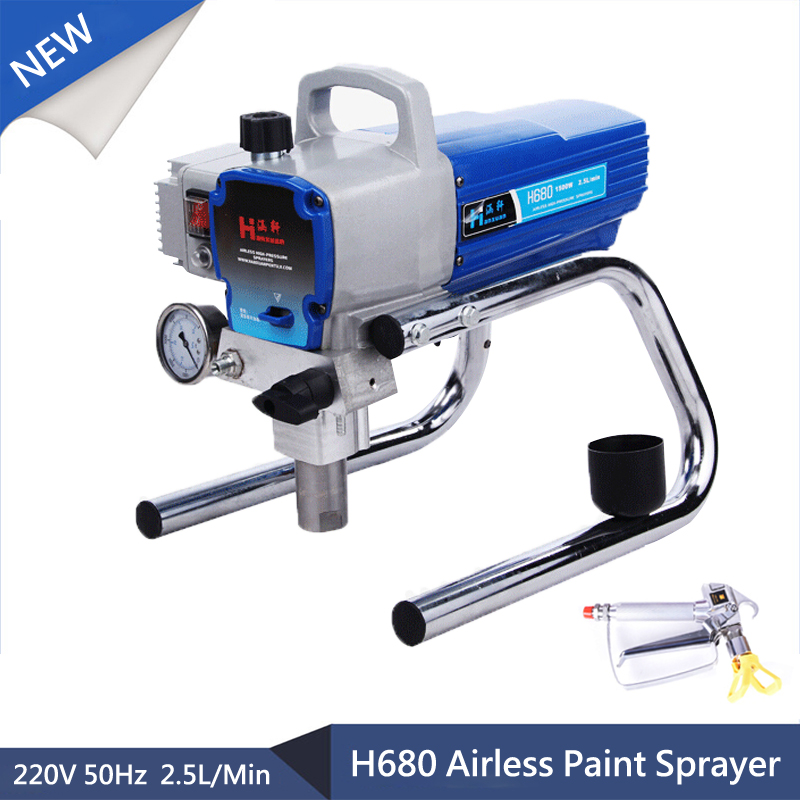 El mejor H680 Electric Airless Paint Spray 2.5l / min 1500W paint / wall / latex Paint airless paint spray machine with spray gun diy