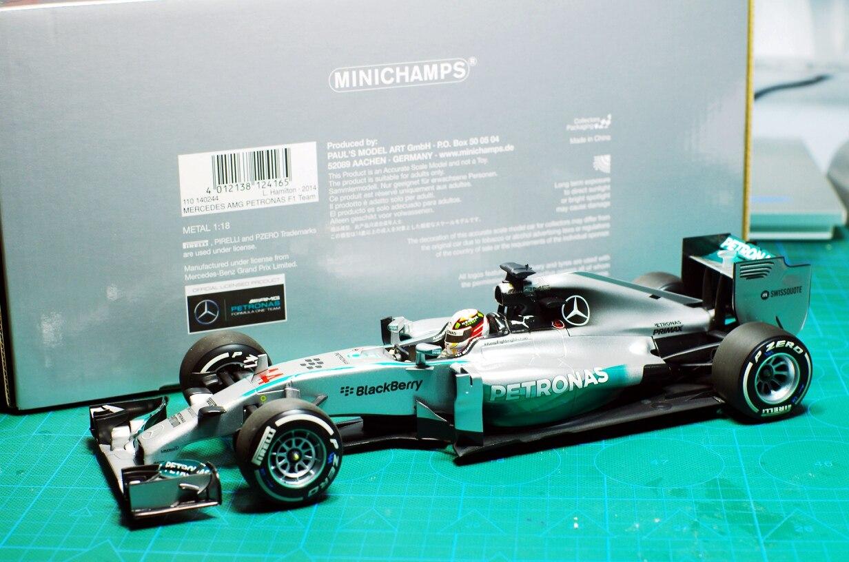1:18 F1 formule 1 course modèle métal Collection Mini coupe MINICHAMPS Mercedes AMG W05 2014 chine Station Hamilton