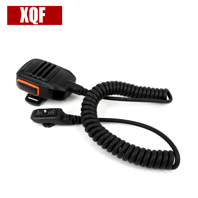 XQF 10PCS  Speaker Microphone For HYTERA Radios PD700 PD782G PD780G PT-580 Two Way Radio