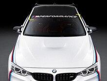 Высокое качество высечки Стайлинг автомобиля наклейки для BMW M производительность Передняя и задняя ветровое стекло наклейка в виде окна Гр...