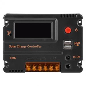 Image 3 - منظم شحن يعمل بالطاقة الشمسية تيار مستمر 12 فولت/24 فولت LCD وحدة تحكم شحن بطارية رقمية لوحة شحن تعمل بالطاقة الشمسية الذكية للري