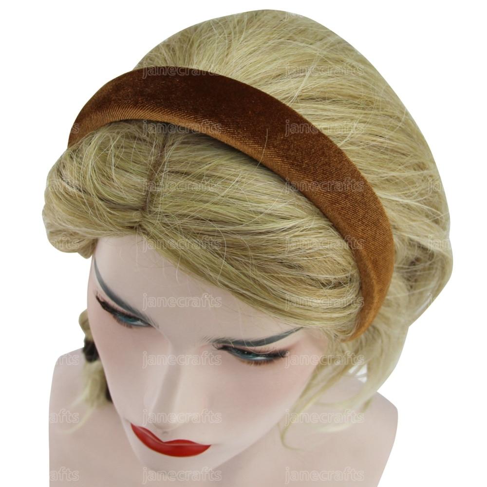Gaya Vintage Fashion wanita beludru hairbands, Aksesoris rambut ikat - Aksesori pakaian - Foto 2