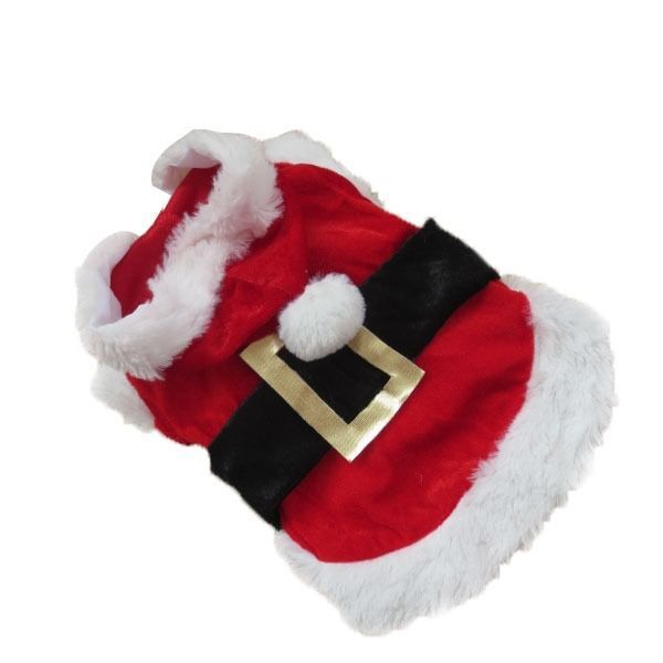 05cc00bacefb7 Lx0220 Pet roupas de natal exteriores brasão vestuário filhote de cachorro papai  noel Costume Hoodie