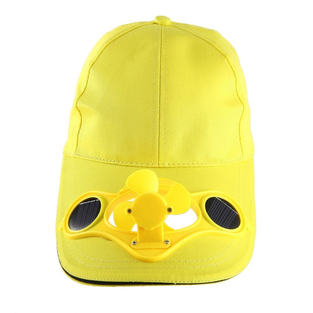 Beach Hats Solar Powered   Baseball     Cap   Fan Hat 2018 Summer   Caps   With Solar Sun Power Cool Fan Energy Save No Batteries 2019