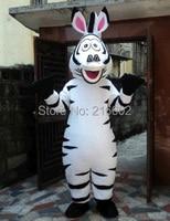 Yüksek kaliteli yetişkin boyutu Madagaskar Zebra Maskot Kostüm Madagaskar Marty Maskot Kostüm Ile Fan & Kask Ücretsiz Kargo