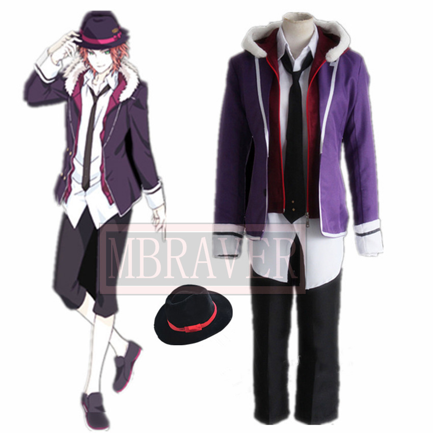 Diabolik Lovers Laito Sakamaki Cosplay Costume Custom Made