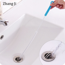Zhang Ji Sewer Cleaning Brush 71cm Flexible Kitchen Bathroom Sink Pipe Cleaner Hair Removal Tools Steel Dredge sewers PP handle