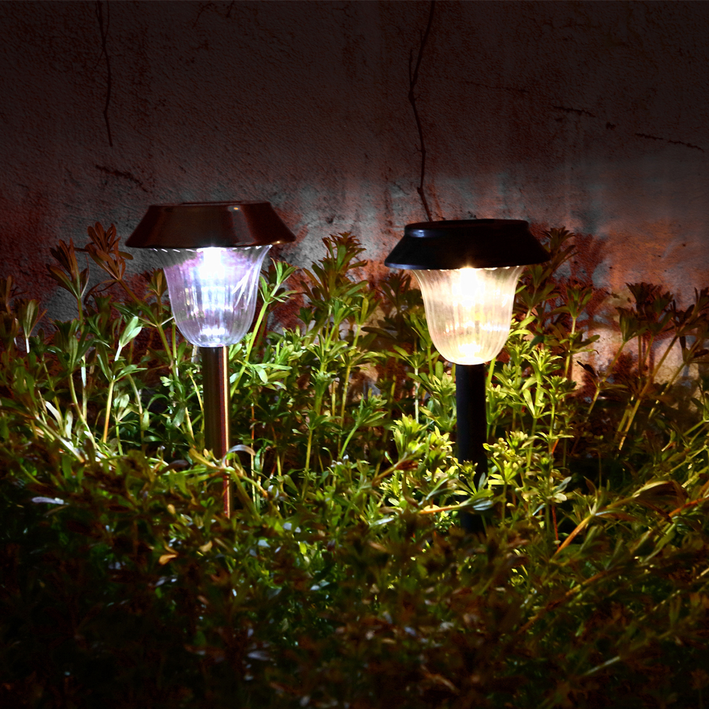 Led solar light outdoor garden lights lawn lamp luces for Lampe de jardin a led