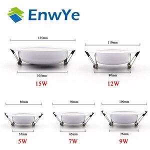 Image 4 - EnwYe luz descendente LED para techo, 5W, 7W, 9W, 12W, 15W, Blanco cálido/blanco frío, luz led AC 220V, 230V, 240V