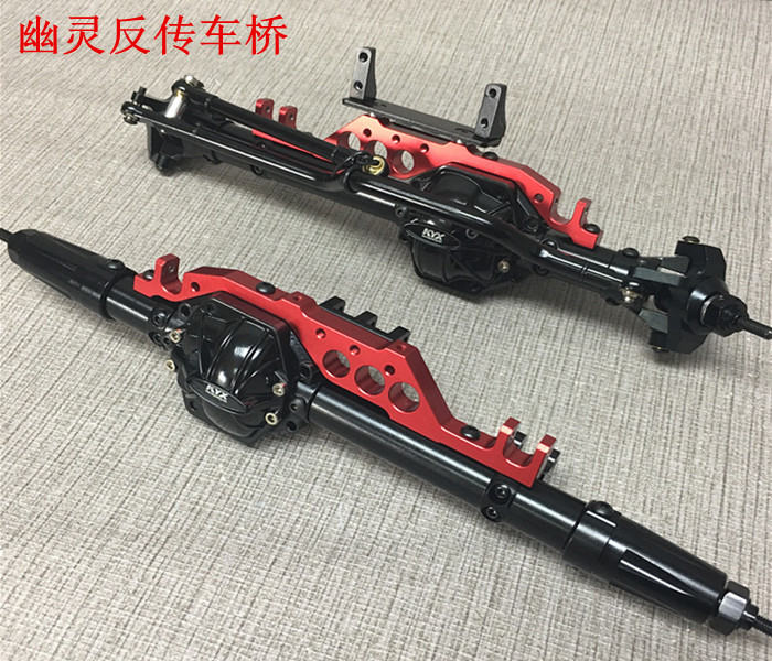 1/10 Rc Crawler Car KYX Billet Machined Front & Rear Reverse Axle For Axial Wraith Truck