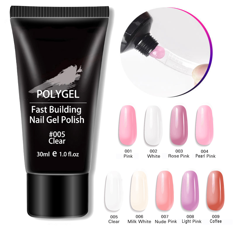 01 P 008 Poly Nail Builder Gel 30ML 1 76oz Natural semi traspratent Nail Extension Gel Nail Enhancement Nail Thickening Tool in Nail Gel from Beauty Health