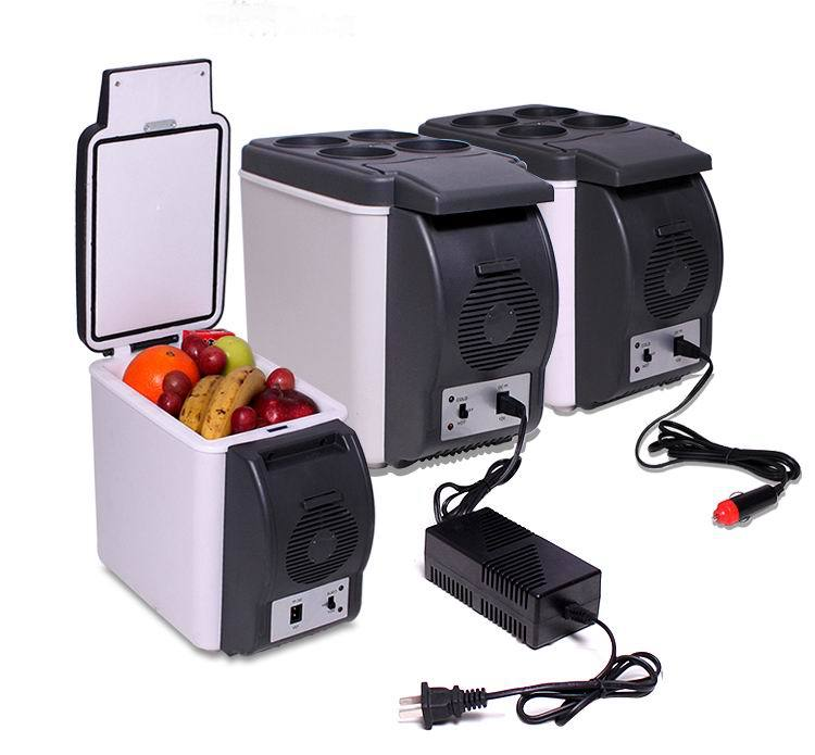 DHL Free Shipping!!Car Refrigerator Portable 12V 6L Auto Mini Car Travel Fridge Quality ABS Multi-Function Cooler Freezer Warmer цены