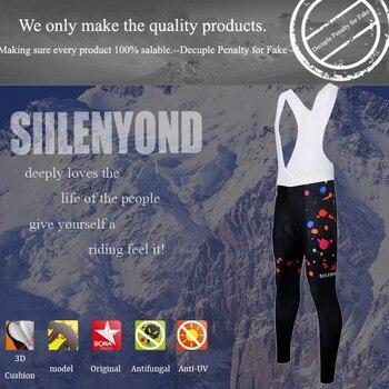 Siilenyond 2019 Women Winter Keep Warm Cycling Pants Thermal Fleece MTB Bike Cycling Trousers With Coolmax 3D Gel Padded 2