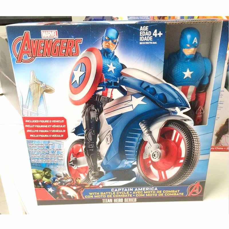 أعجوبة اللعب المنتقم 30 سنتيمتر بطل السوبر كابتن أمريكا الرجل الحديدي العمل PVC الشكل لعبة النادرة دمى للأطفال الأولاد الهدايا