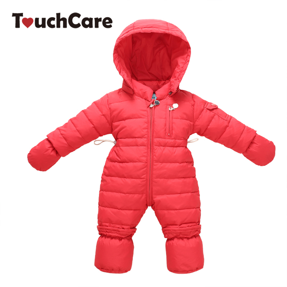 Newborn Winter Soft Duck Down Baby Boy Girl Down Coat Infant Warm Solid Hooded Kids Jacket Long Sleeve Toddler Coverall Snowsuit children duck down winter warm jacket with fur baby boy girl solid overcoat hooded winter jacket kid clothing fashion down coat