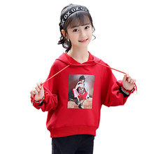 Купить с кэшбэком Baby girl's clothes spring casual print children's hoodie teen sweater teenage girl clothes girl hoodie 4 6 8 10 12 14 years