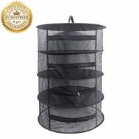 2017 Foaldble Herb Drying Rack Net 4 Portable Layer Cloth Herb Dryer Black Mesh Hanging Dryer