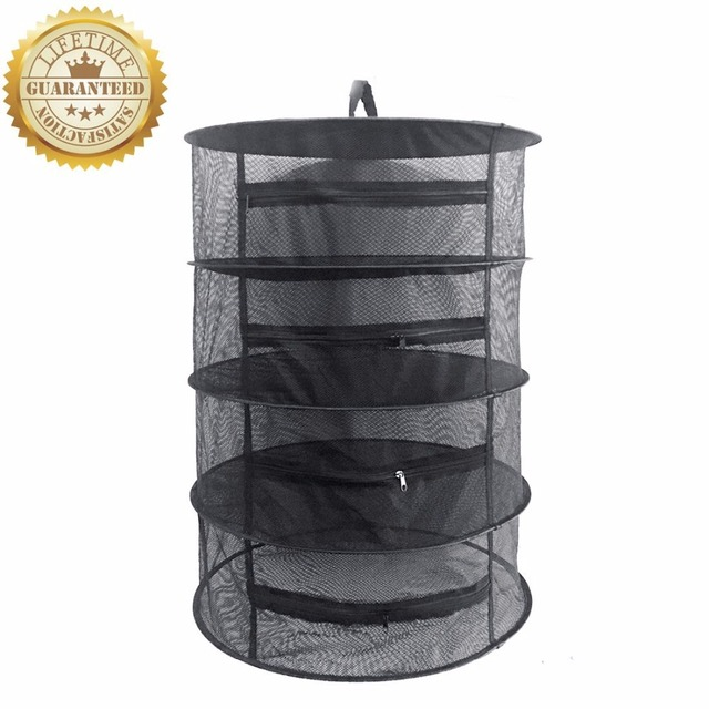 Foaldble Herb Drying Rack Net 4 Portable Layer Cloth Herb Dryer Black Mesh  Hanging Dryer Rack
