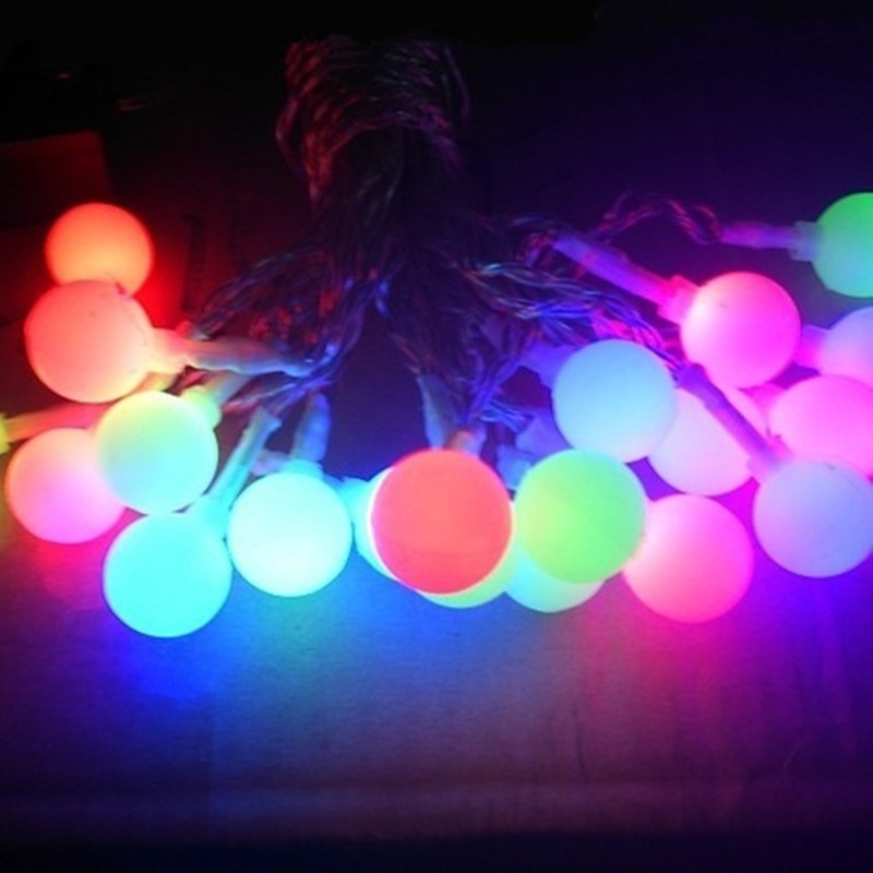 Luminaria 20 leds LED Solar Panel Frosted Ball String Lights New Year Christmas Garland Garden Outdoor Home Energy Saving Lamps