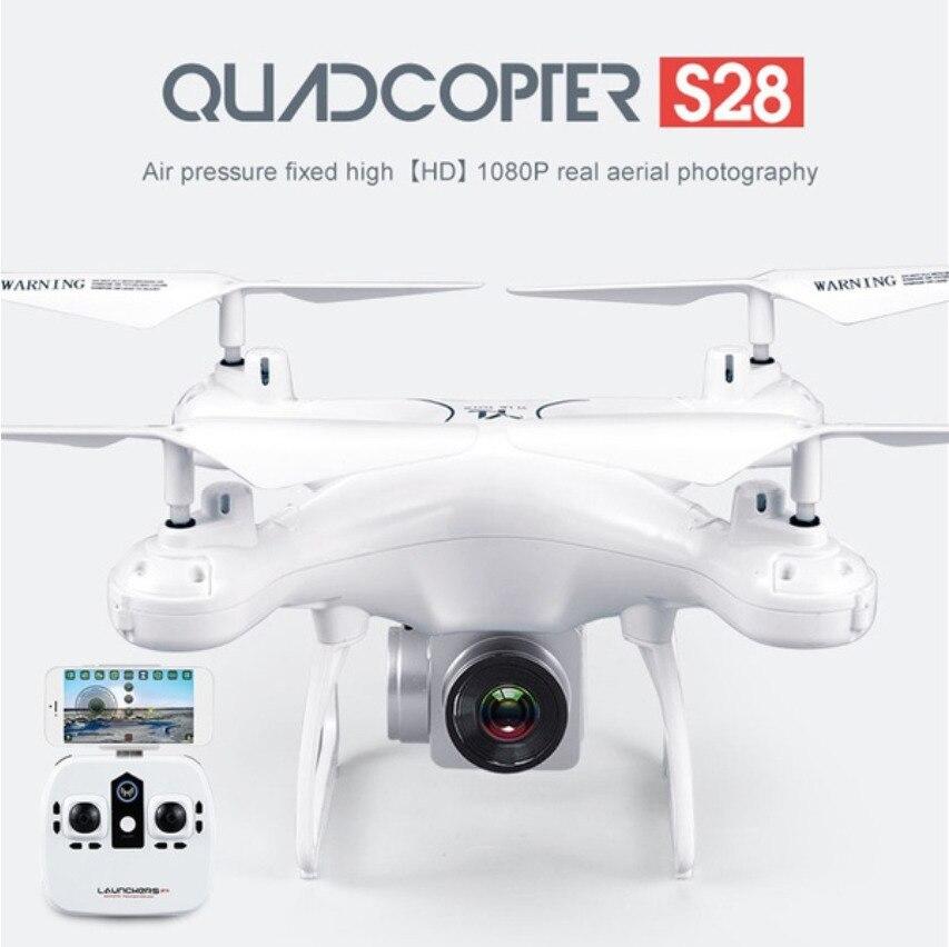 S28 RC Drone con cámara 1080 p HD 2,4g Selfie Quadcopter aviones Wifi FPV altitud sin 3D Flip 18 min tiempo de vuelo de largo