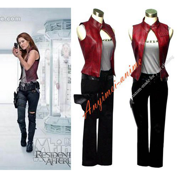 Women Resident Evil Afterlife Claire Jacket Coat Movie Costume Cosplay Tailor-made